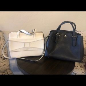 2 Kate Spade Purses 1 Black 1 White